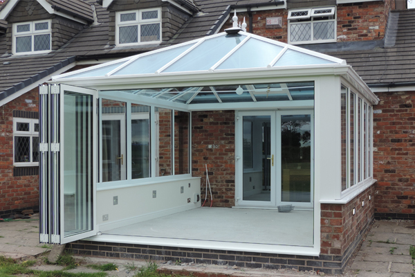 Conservatory with Bi-folding doors