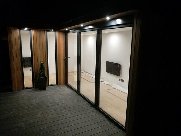 Corridor glazing