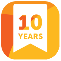 Guaranteed for 10 years & upto 50 years on tiles
